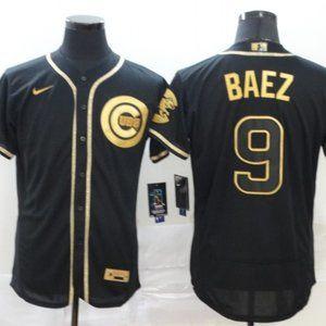 Chicago Cubs Javier Baez Black Golden Jersey